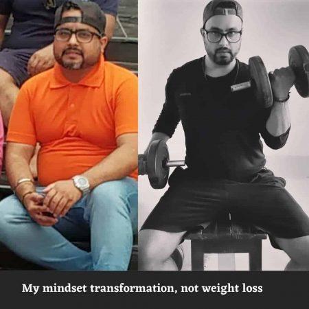 Weight loss story India - Anubhav Kumar